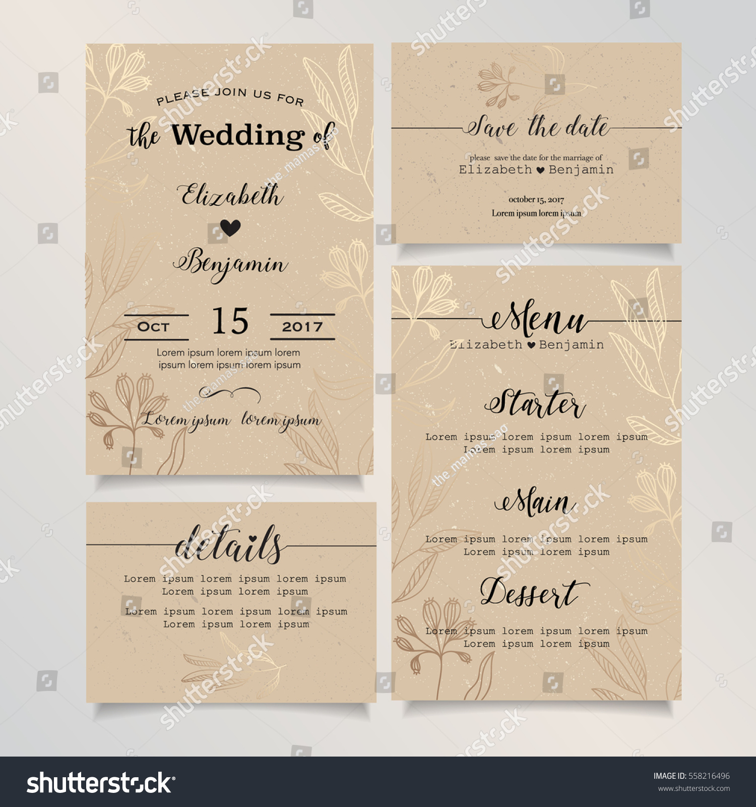wedding invitation card details card save the date card menu card wedding - Wedding Invitation Details Card