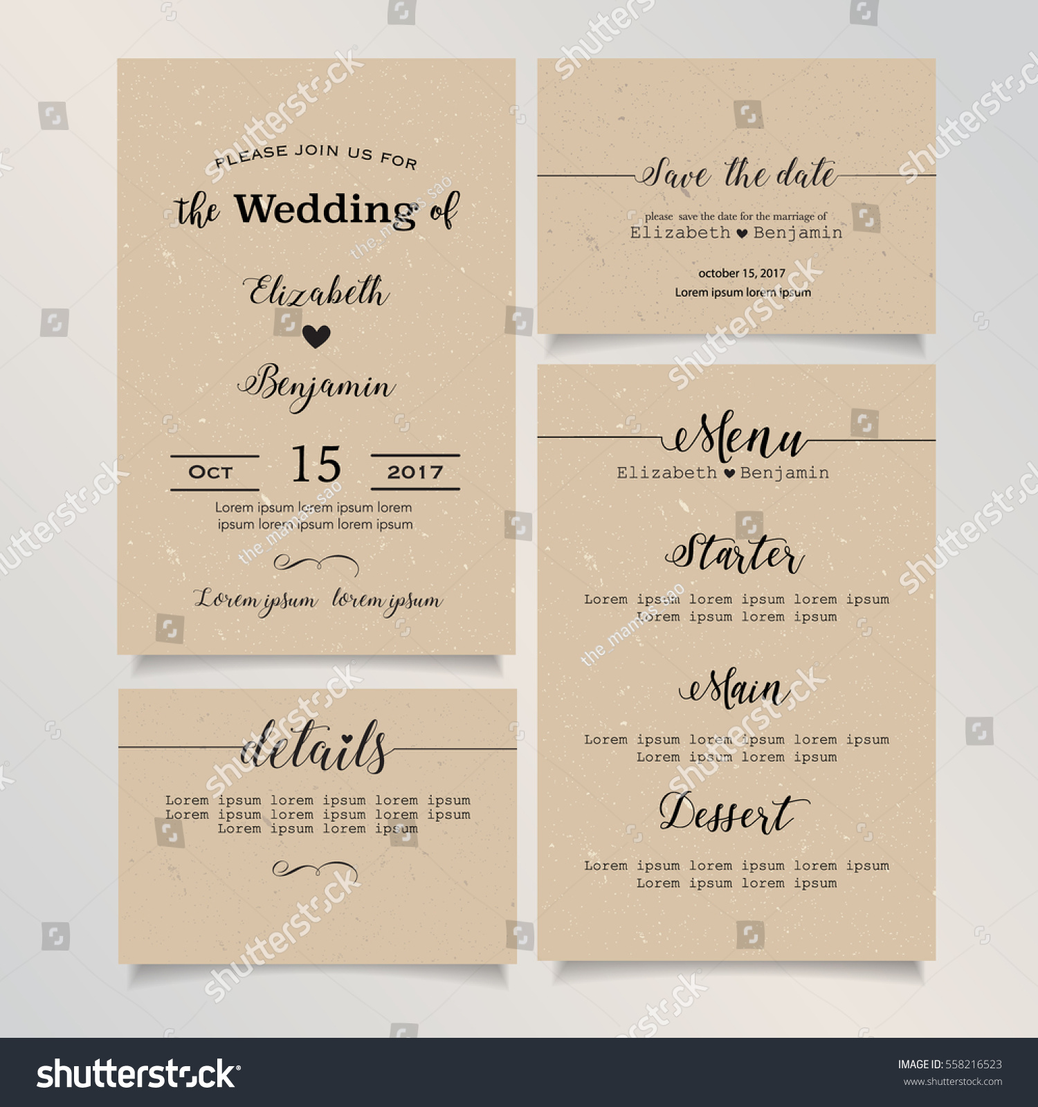Beautiful vintage wedding invitation card details stock vector beautiful vintage wedding invitation card details card save the date card menu card stopboris Choice Image