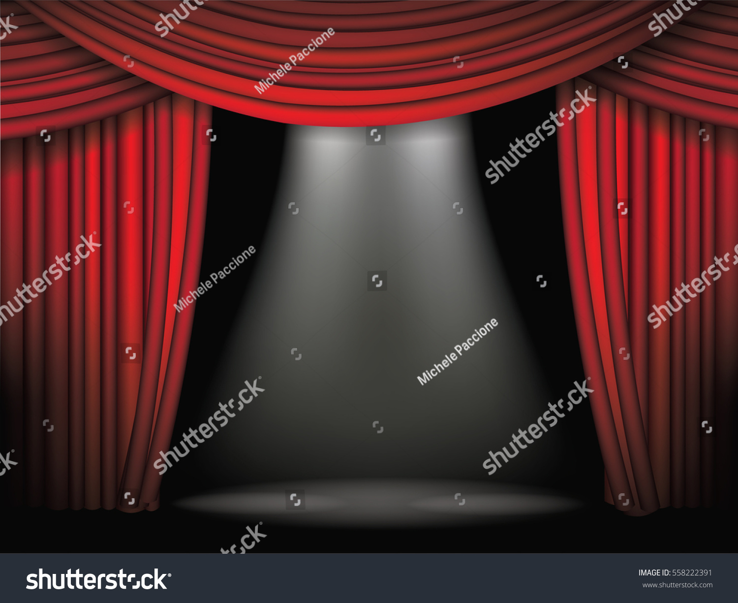 Open stage curtains - Luxurious Red Curtains Background Template Grand Opening Or Other Event Announcement With Dramatic Movie Or