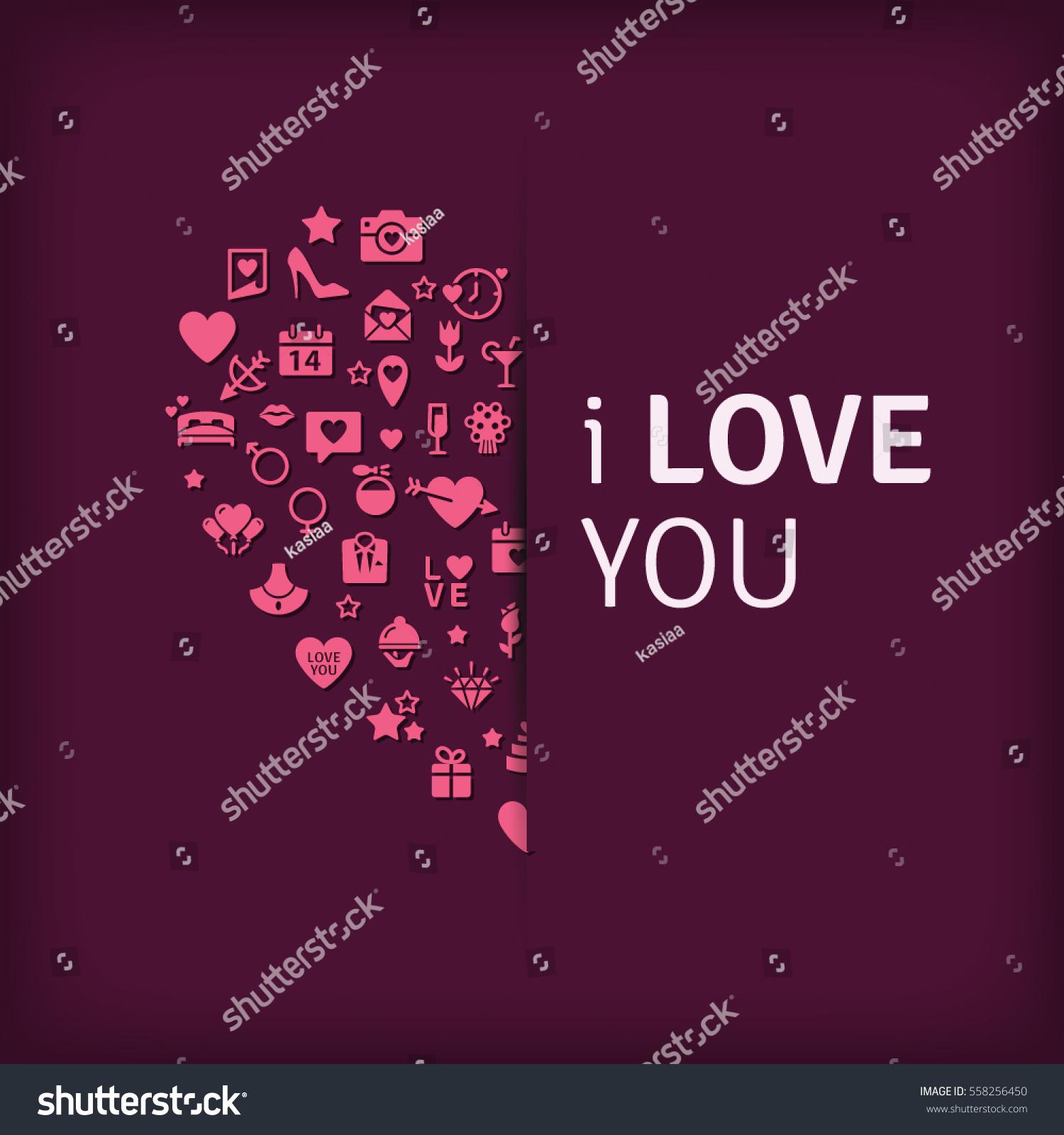 happy valentines day universal modern flat stock vector 558256450