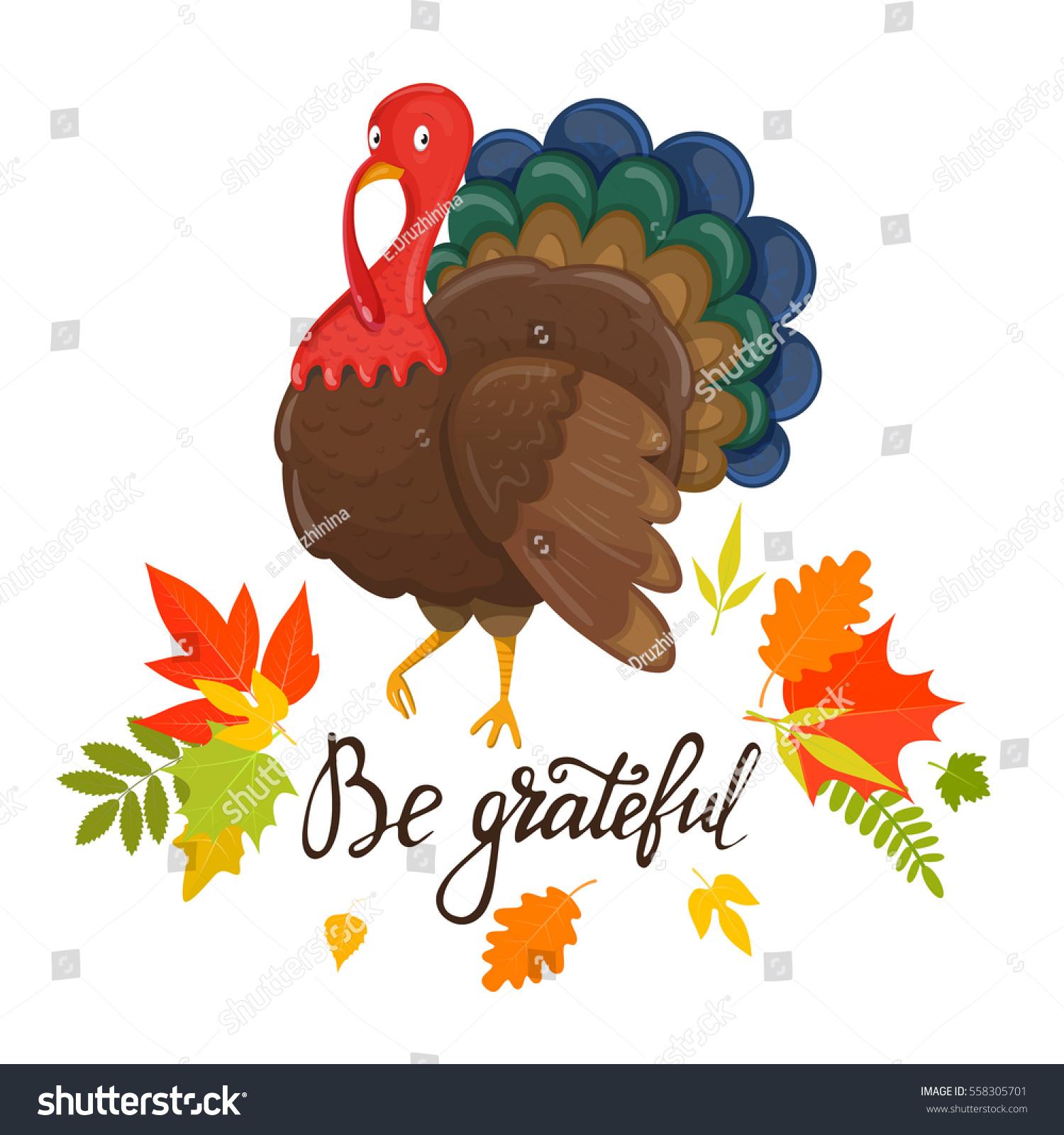 Thanksgiving Day Greetings Be Grateful Thanksgiving Stock