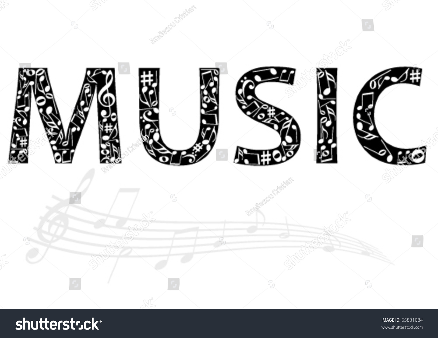 musical notes words