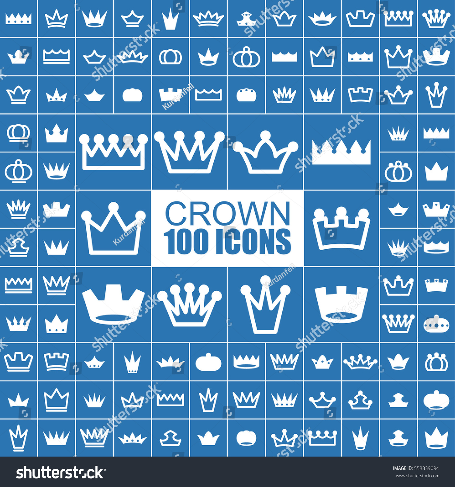 Crown King Imperial Royal Vector Flat Stock Vector Royalty Free