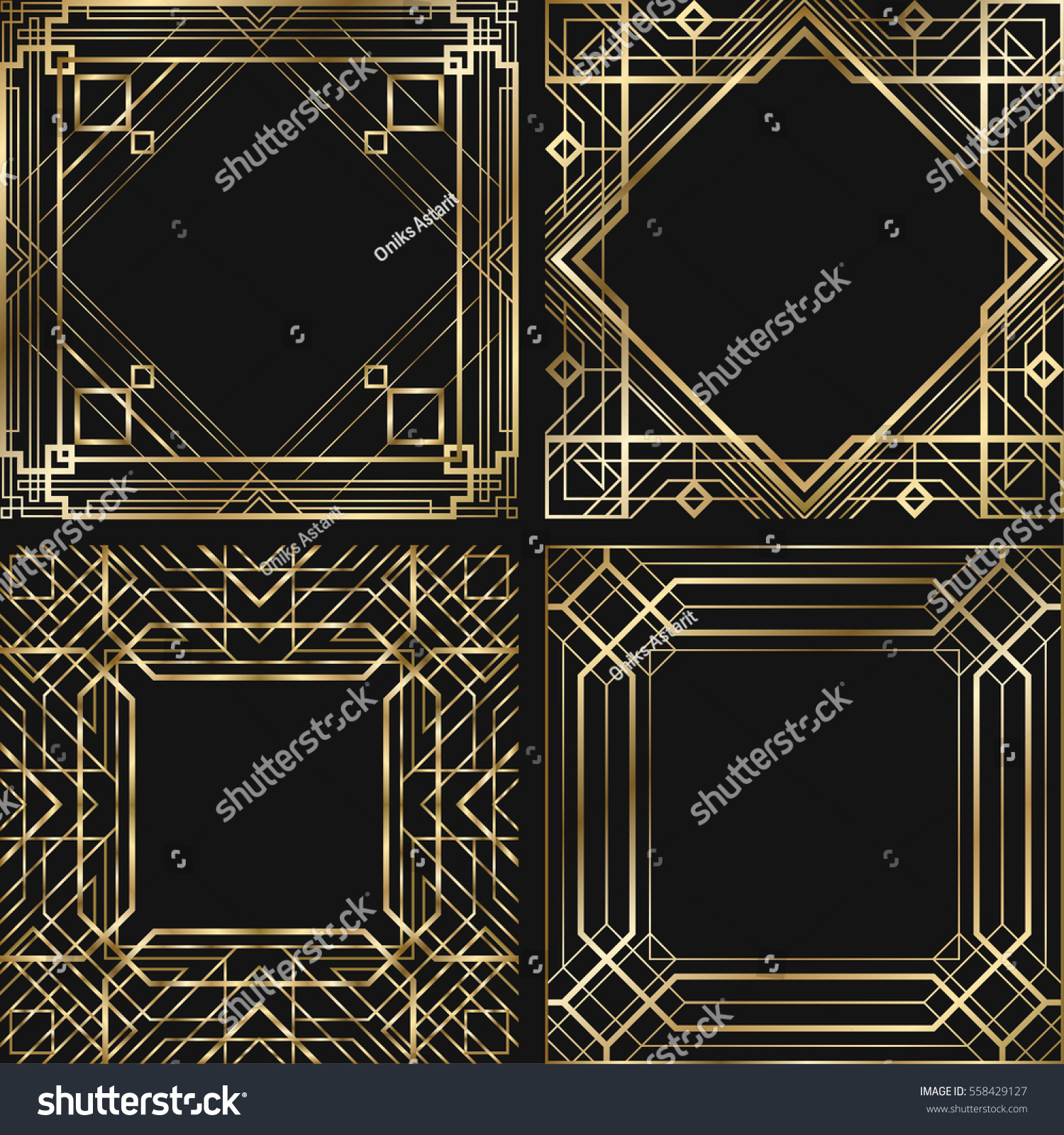 set vintage retro style invitation art stock vektor 558429127 shutterstock. Black Bedroom Furniture Sets. Home Design Ideas