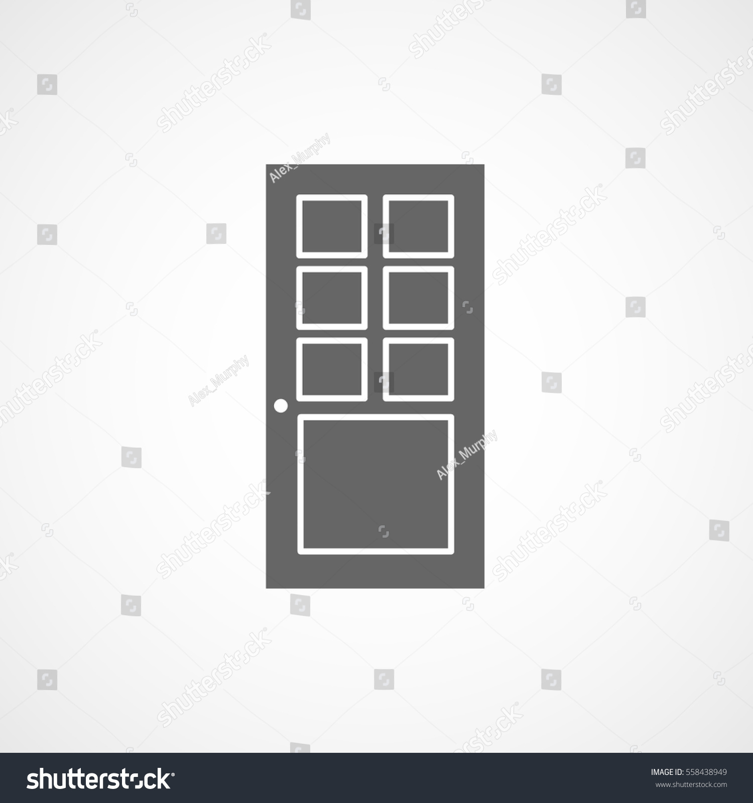 Building Construction Tool Doors Flat Icon On White Background  sc 1 st  Shutterstock & Building Construction Tool Doors Flat Icon Stock Vector 558438949 ...