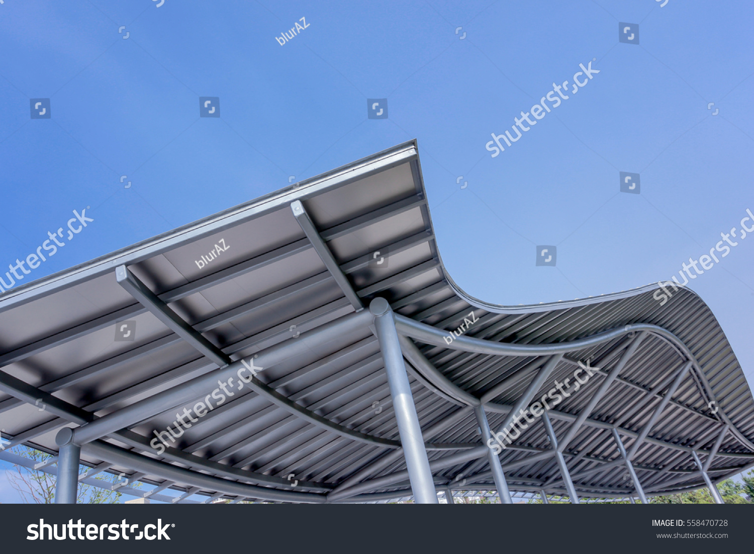 Park Design Metal Canopy Protection Sun Stock Photo Edit Now 558470728