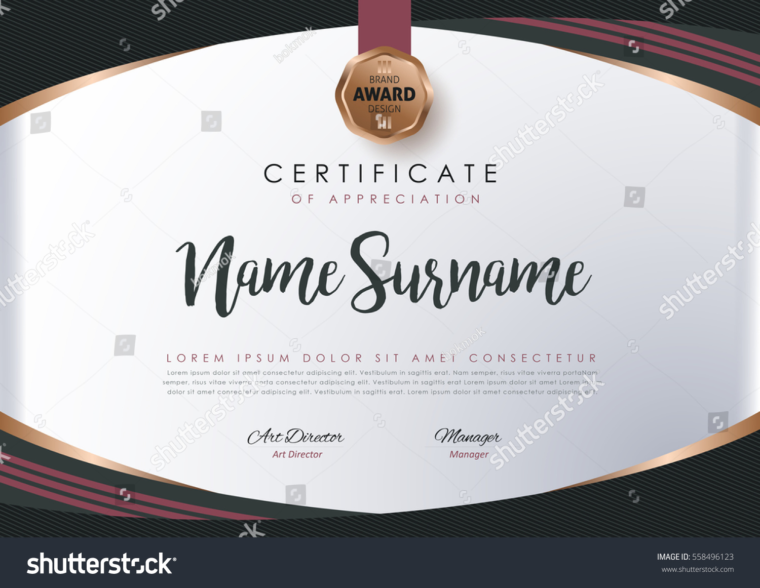 Certificate layout template luxury modern patterndiplomavector certificate layout template with luxury and modern patterndiplomavector illustration yadclub Gallery