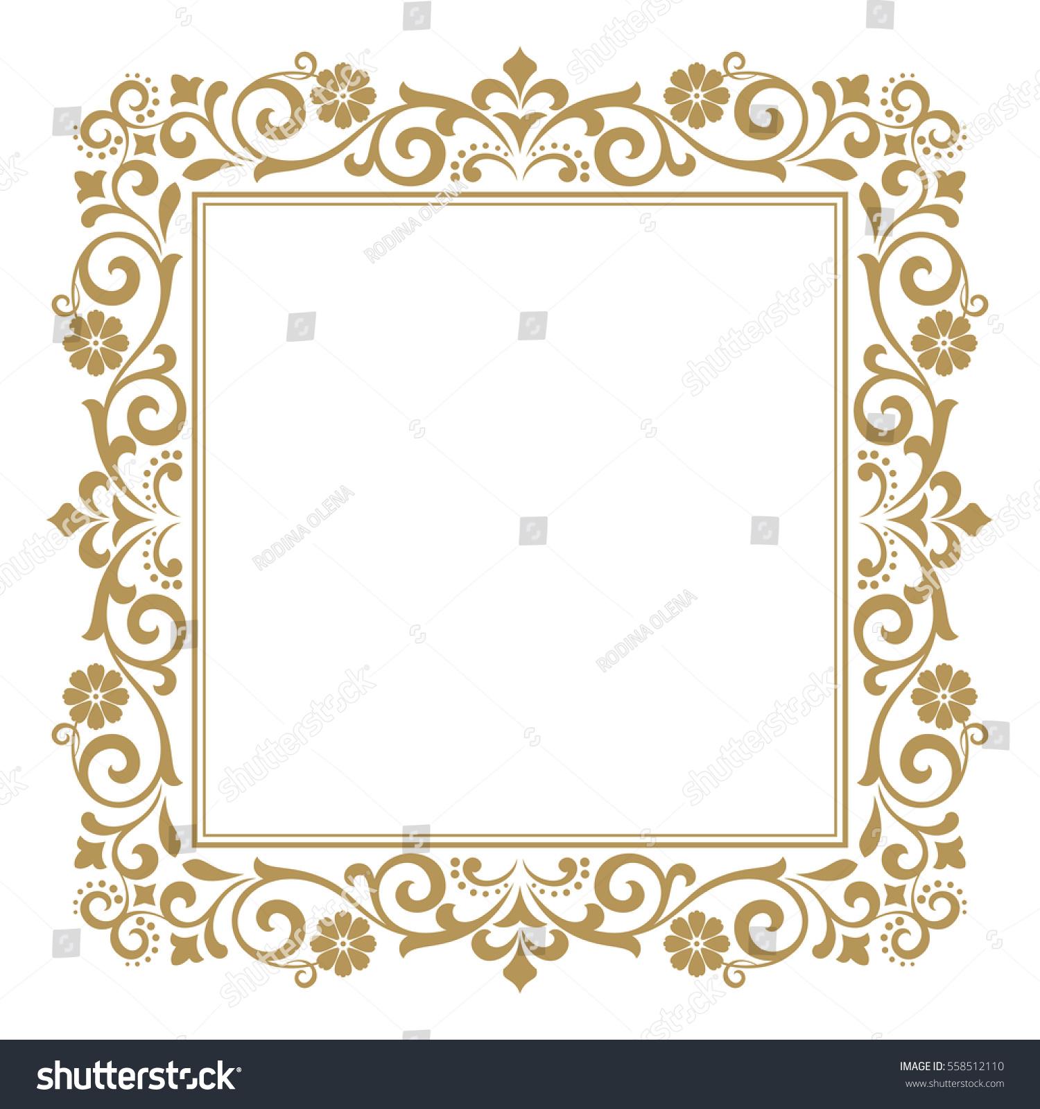 Line Art Frames : Decorative line art frames design template stock vector