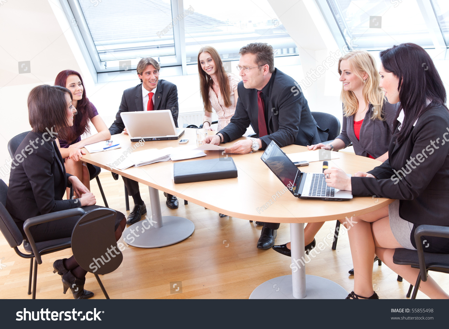 Casual Ambiance At The Business Meeting In A Modern Office Stock Photo