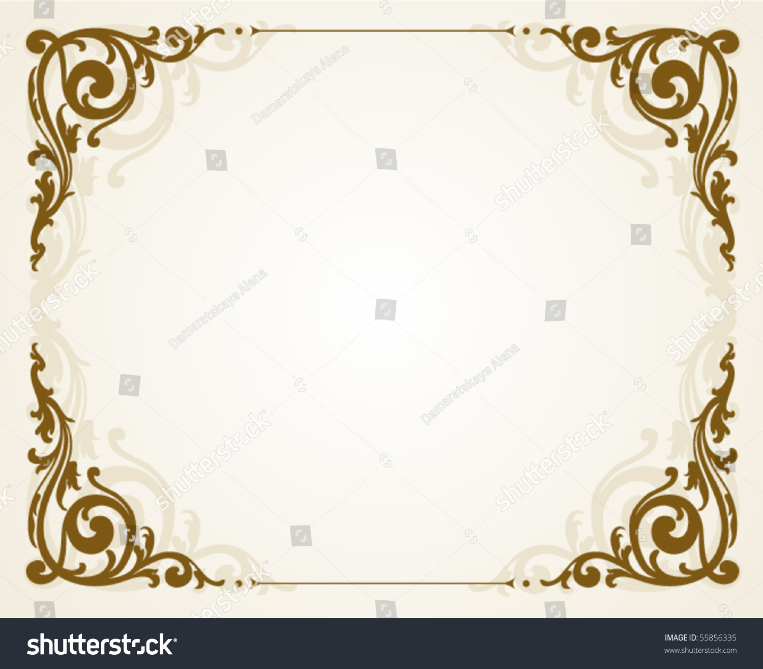 Antique frame vintage style stock vector 55856335 for Small vintage style picture frames
