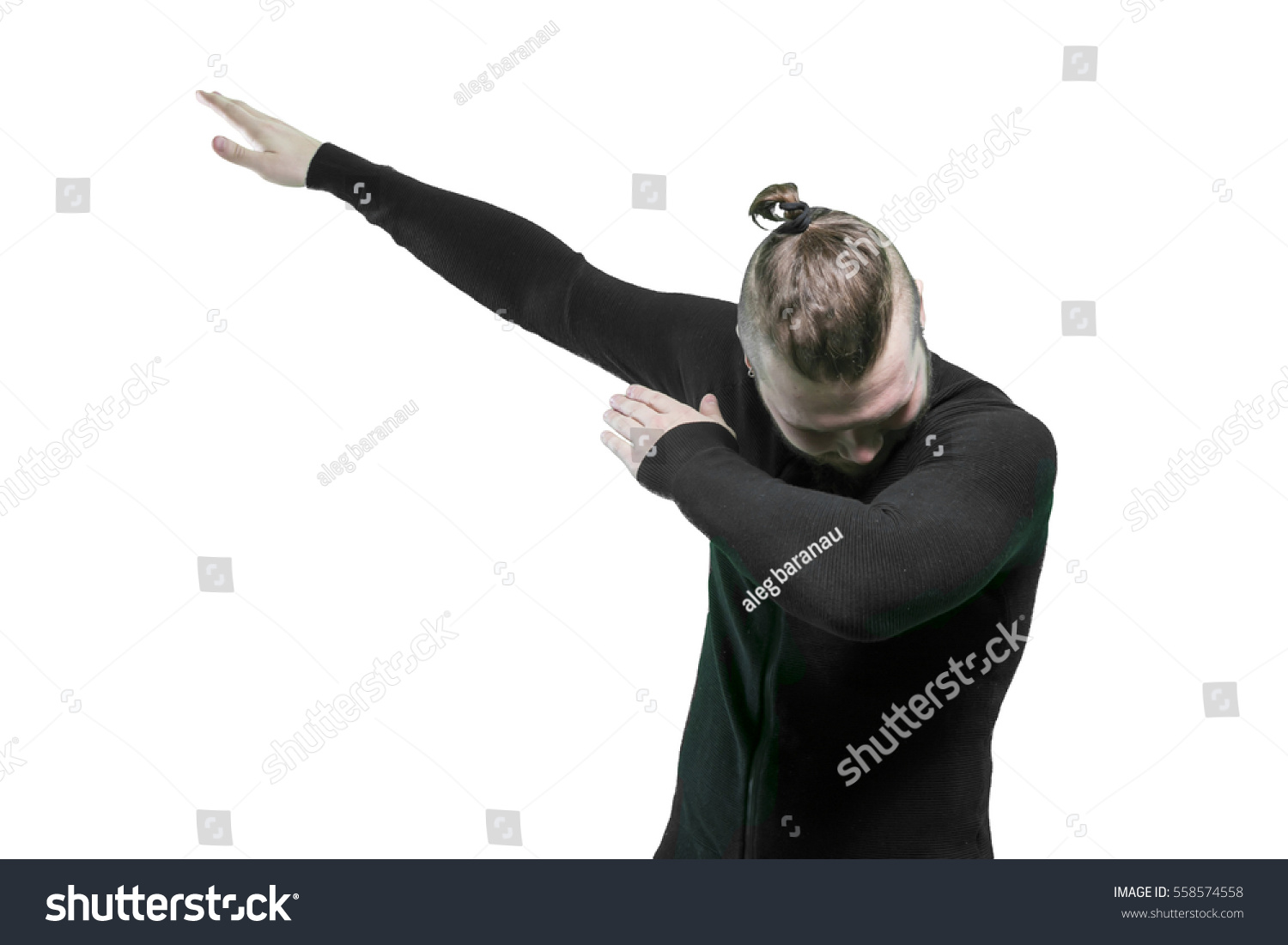 dabb dance. guy making dab dance dabb