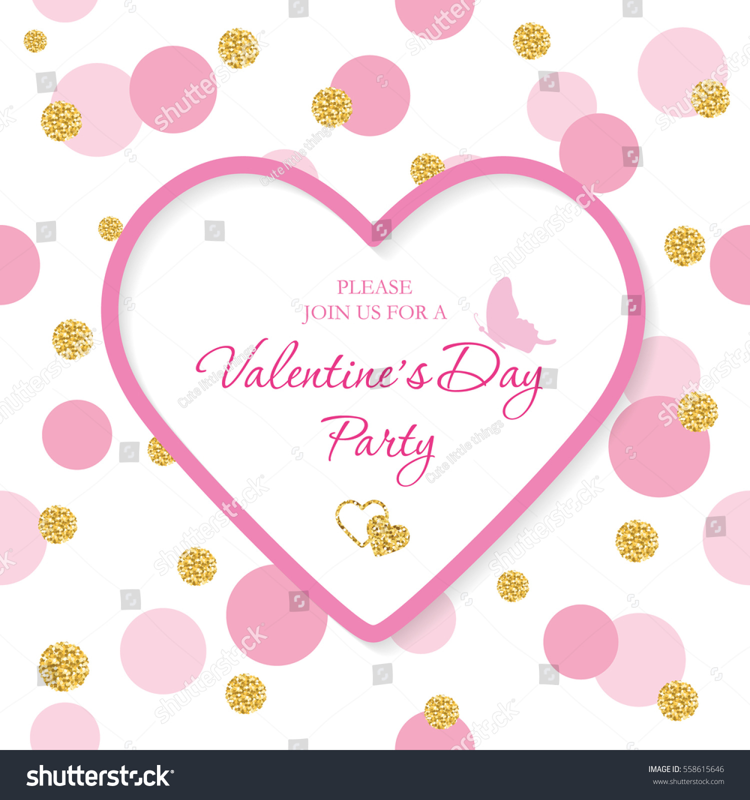 valentines day invitation template included laser stock vector 558615646 shutterstock. Black Bedroom Furniture Sets. Home Design Ideas