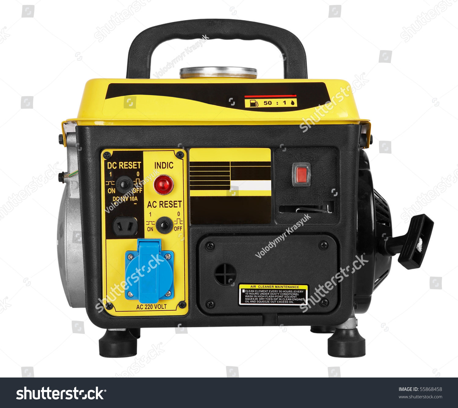 Portable Generator Electric Power Plant Isolated Stock