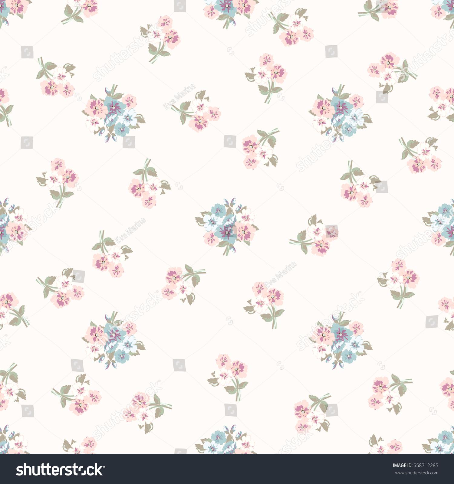 Simple Cute Pattern Smallscale Flowers Millefleurs Stock ...