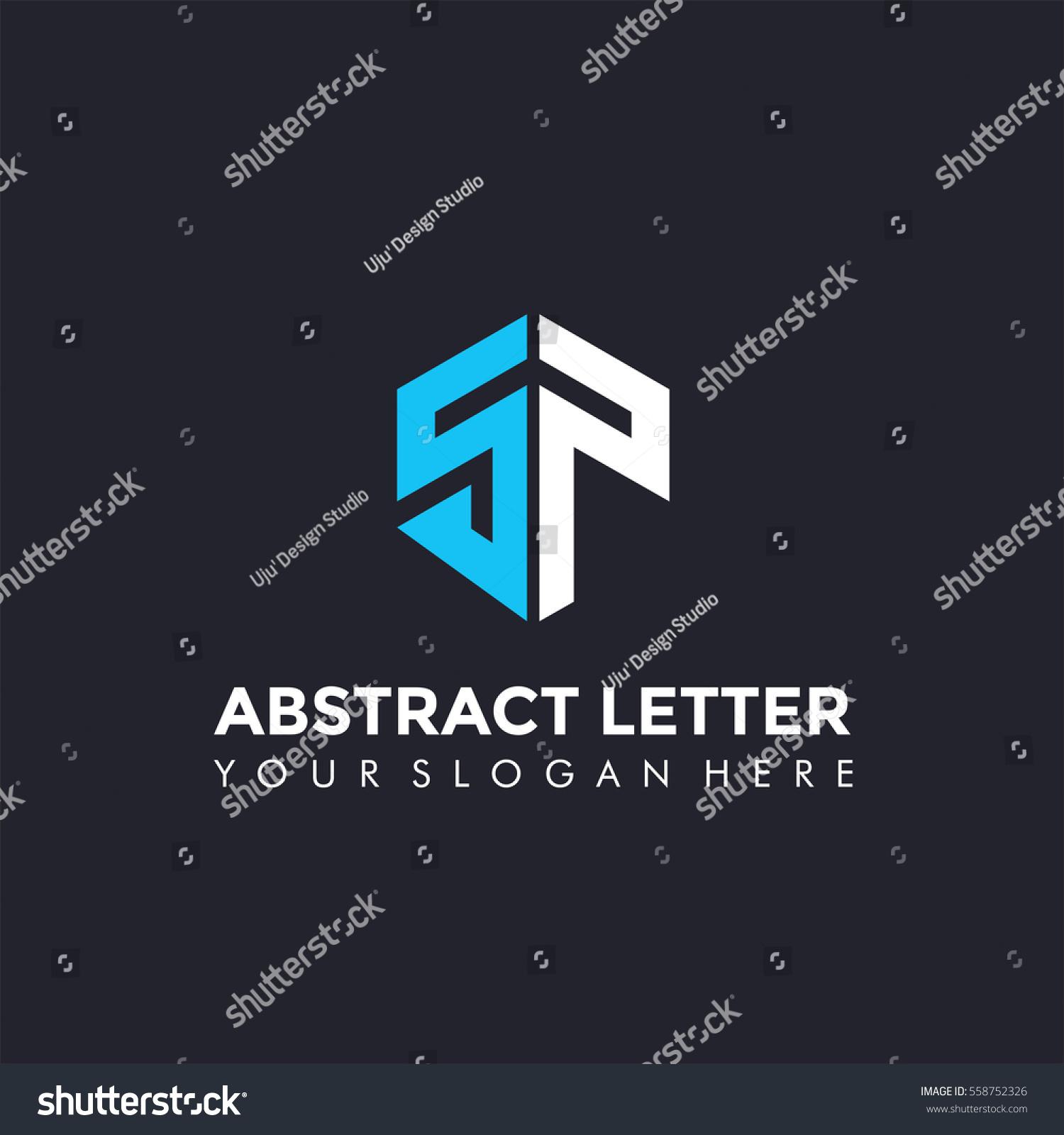 Abstract Letter SP Logo Template Vector Stock Photo (Photo, Vector ...