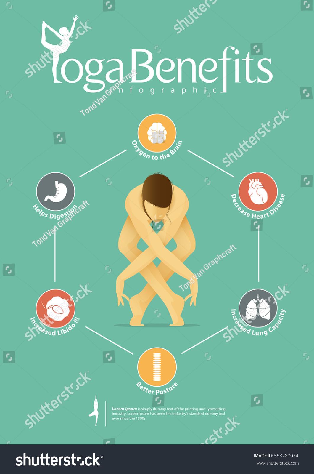 Infographic Yoga Poses Yoga Benefits Flat Stock Vector Royalty Free 558780034