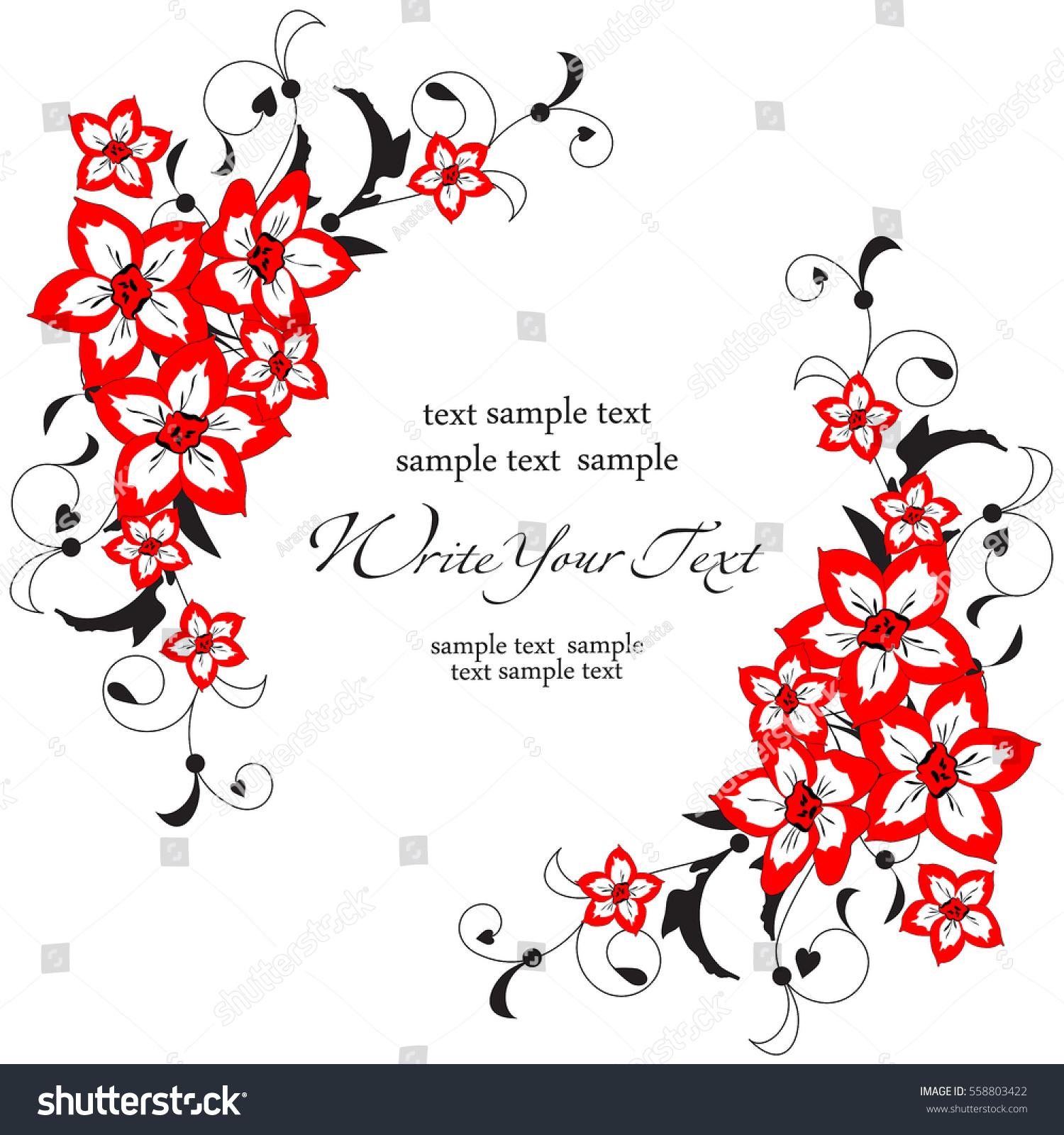 Vector Background Flowers Design Wedding Card Stock Vector