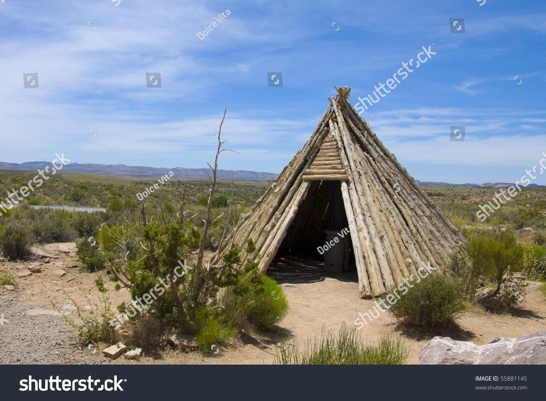 Native American Shelter Teepee Stock Photo 55881145 - Shutterstock