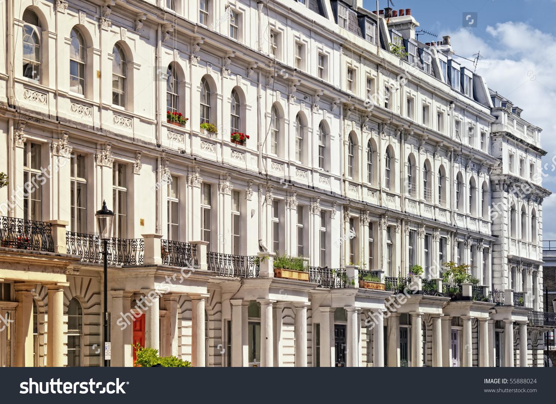 Elegant Apartment Building Notting Hill London Stock Photo ...