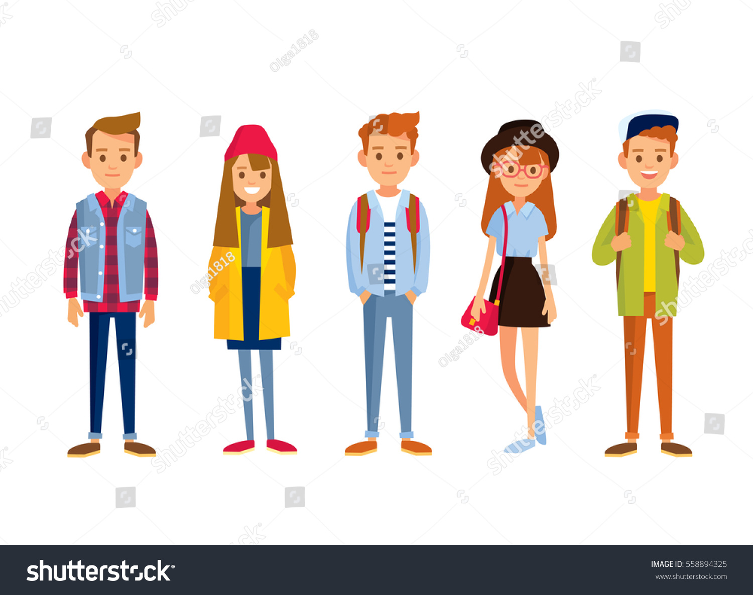 set young people stock vector 558894325 shutterstock rh shutterstock com Young People Working Young People Images Graphics