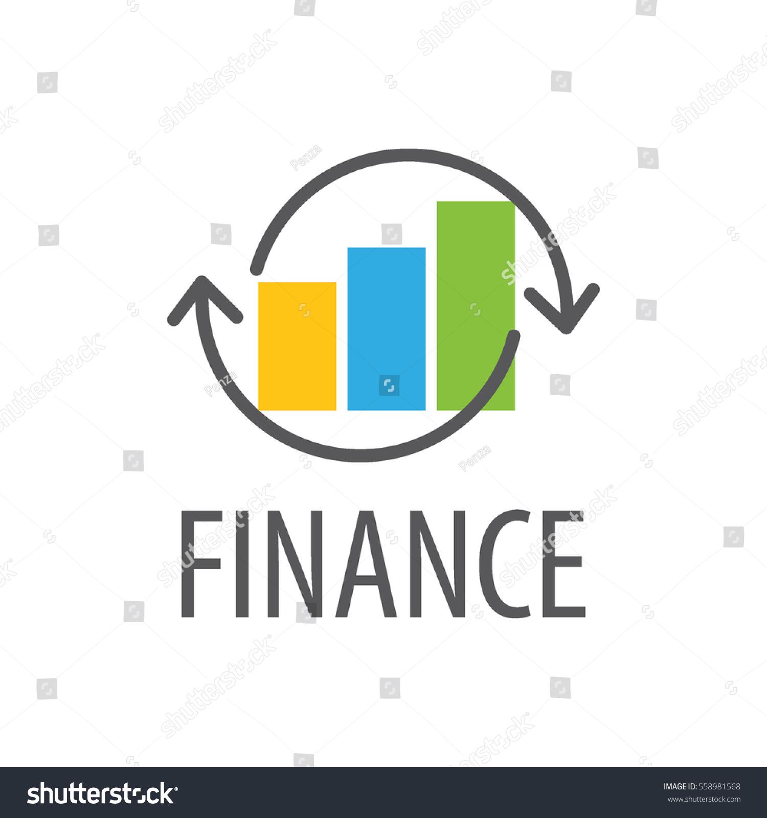 Finance Logo: Logo Finance Business Graph Stock Vector 558981568
