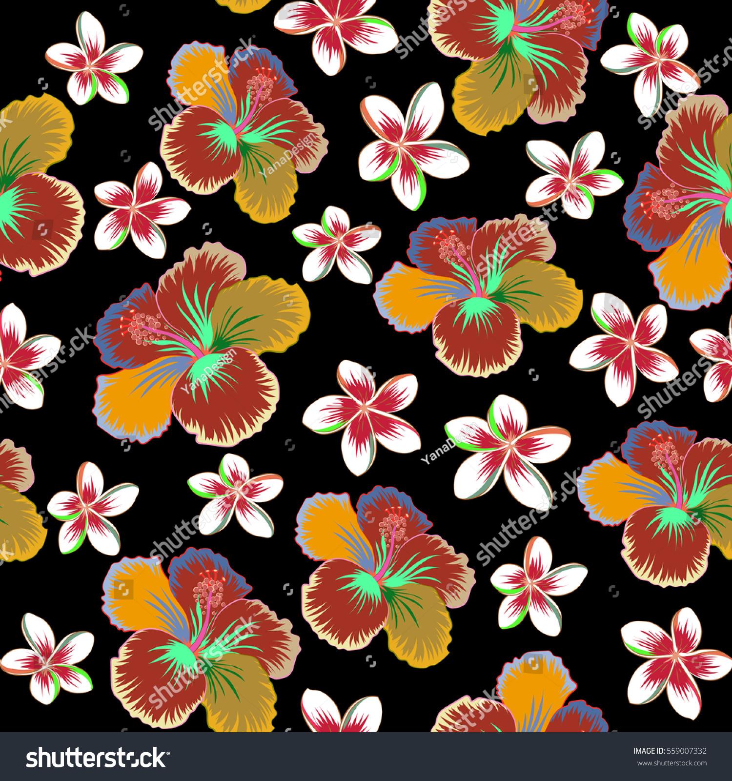Various hibiscus hawaiian tropical flowers in pink beige and green id 559007332 izmirmasajfo