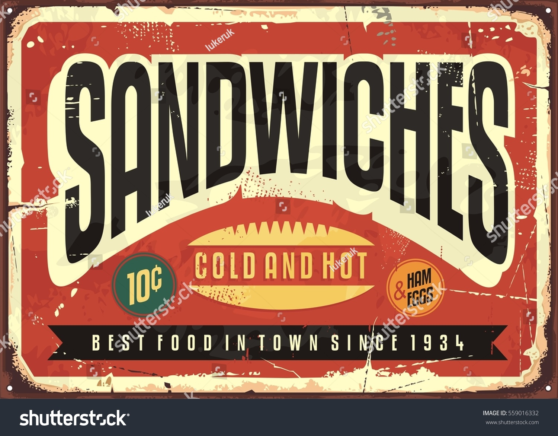 Antique Food Signs