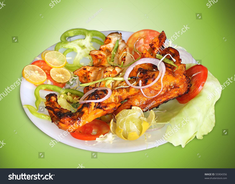 Chicken Leg Piece Roasted Stock Photo 55904356 : Shutterstock