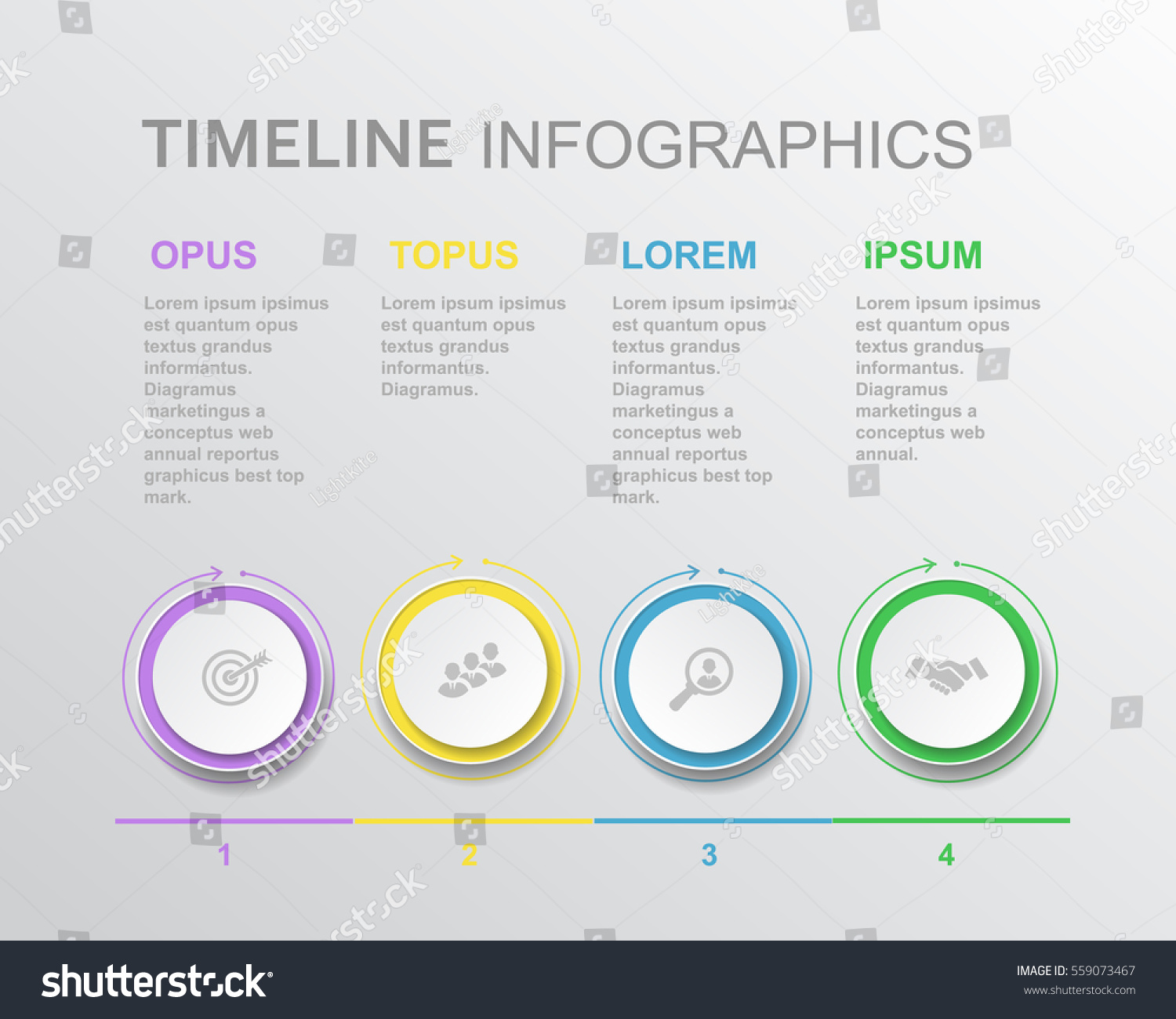 Vector Elements Timeline Infographic Template Diagram Stock Vector