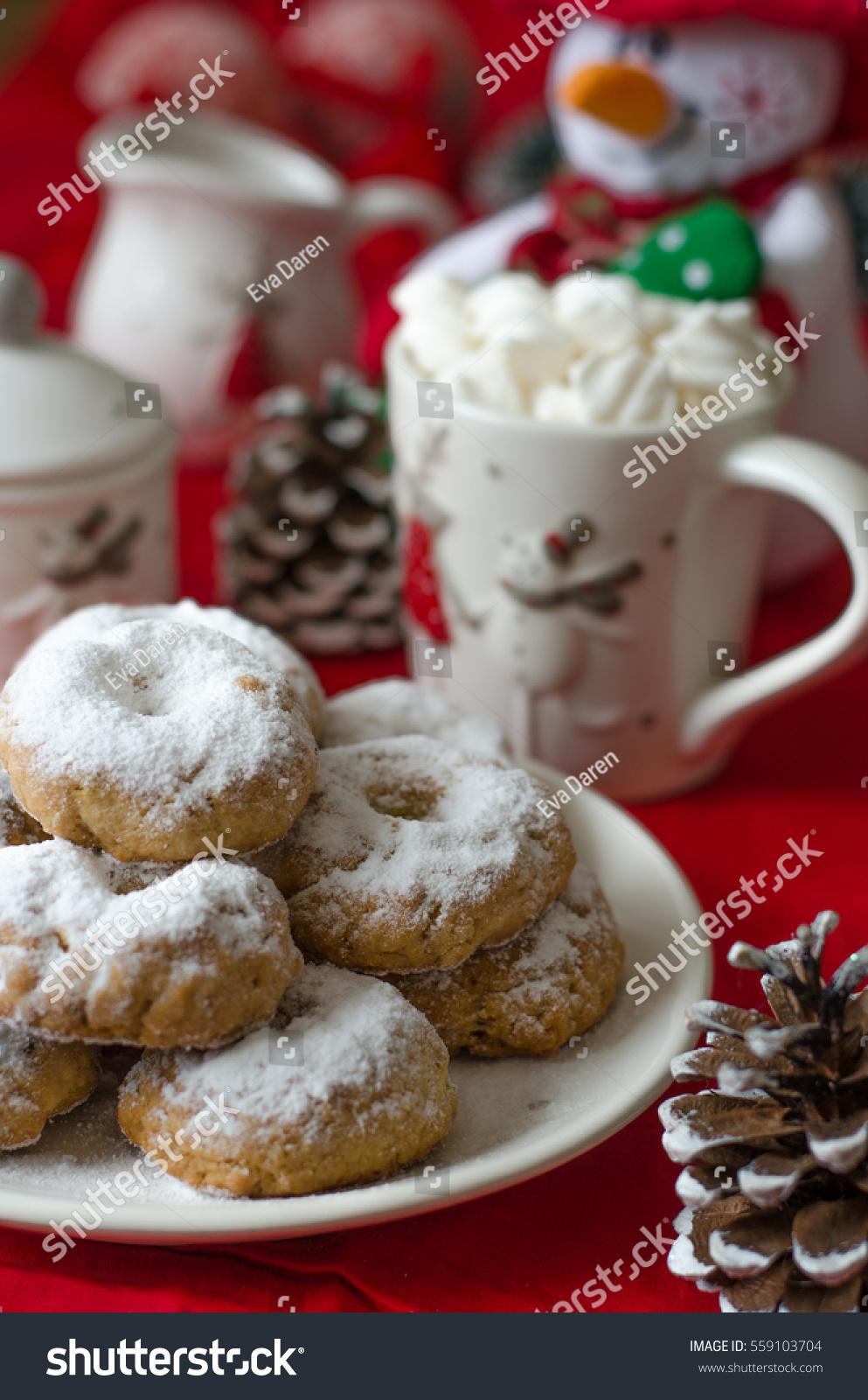 Traditional Spanish Christmas Cookies Wine Ring Stock Photo Edit