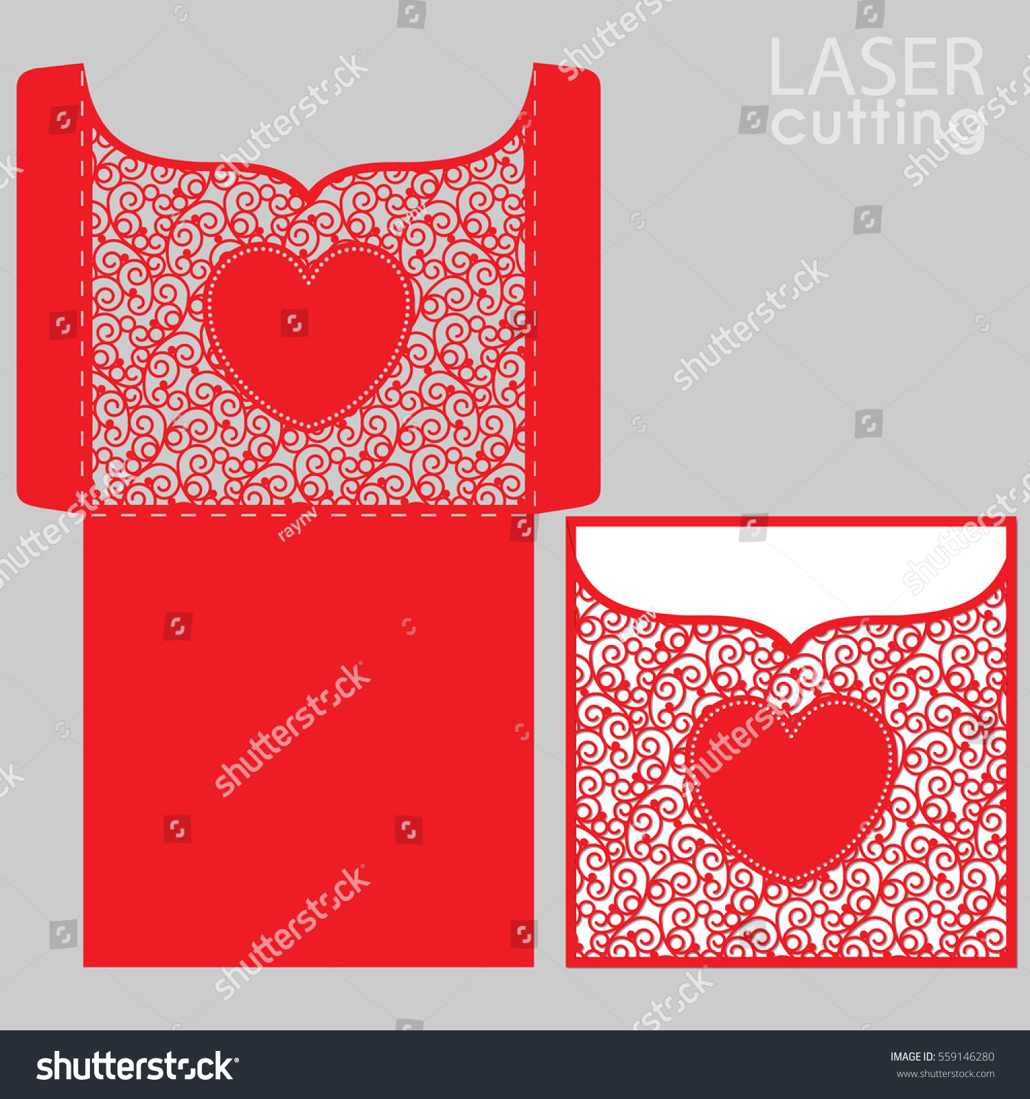 Die Laser Cut Wedding Card Vector Stock Photo (Photo, Vector ...