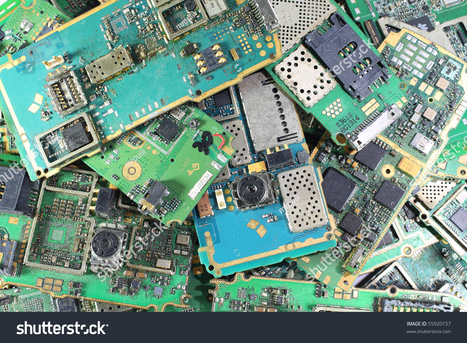 Old Dirty Ruin Mobile Phone Mainboard Stock Photo (Edit Now ...