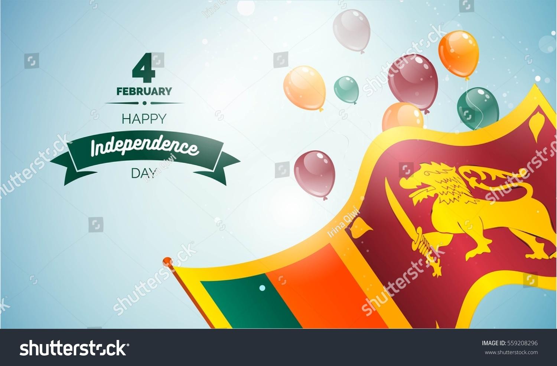 4 February Sri Lanka Independence Day Stock Vector Royalty Free