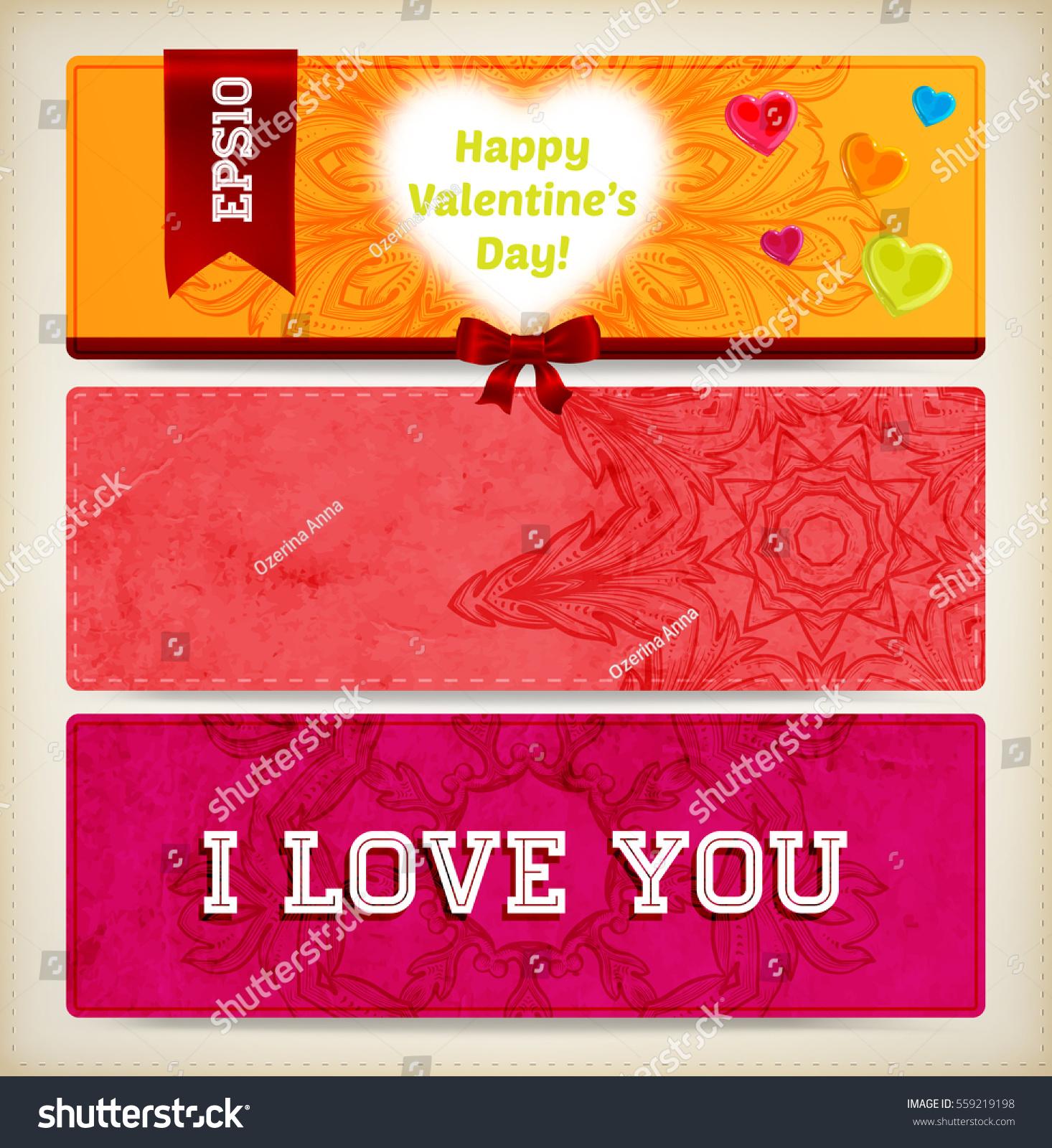 Wedding Invitation Card Valentines Day Designs Stock Vector HD ...