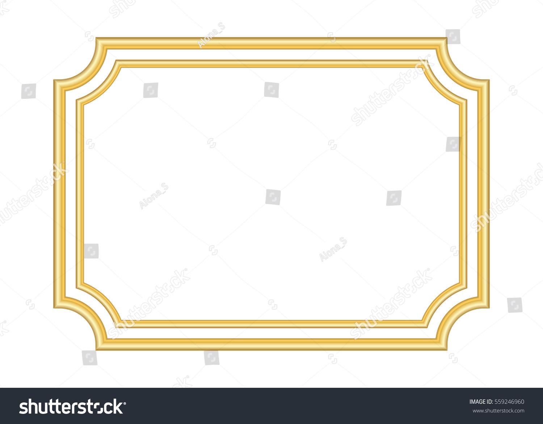 Gold Frame Beautiful Simple Golden Design Stock Illustration 559246960