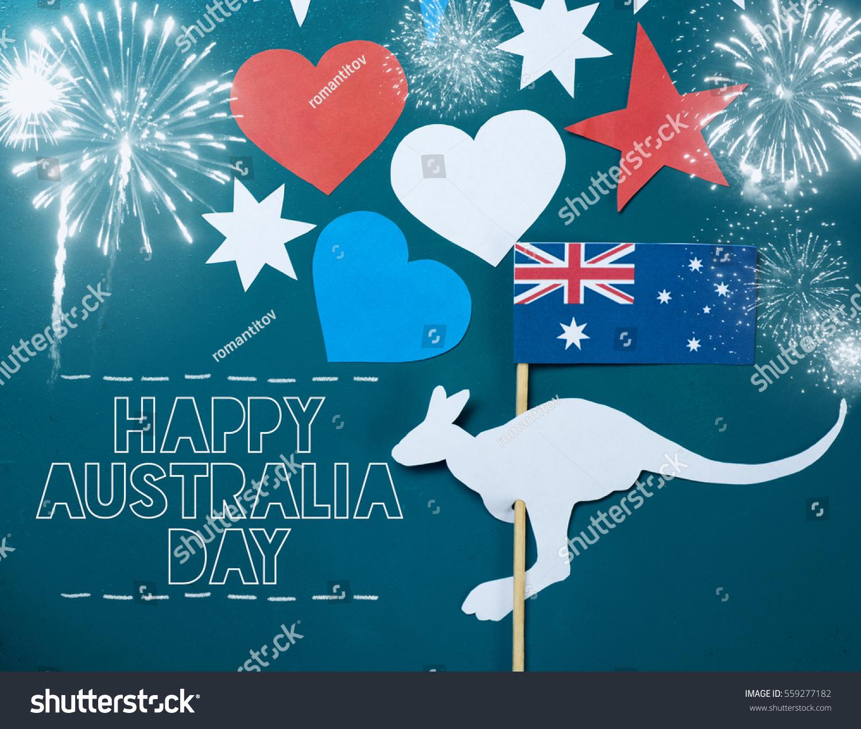 Celebrate australia day holiday on january 26 stock photo edit now celebrate australia day holiday on january 26 with a happy australia day message greeting written m4hsunfo