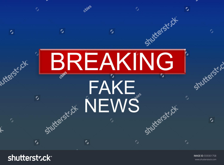 News Background: Breaking Fake News, 3d illustration