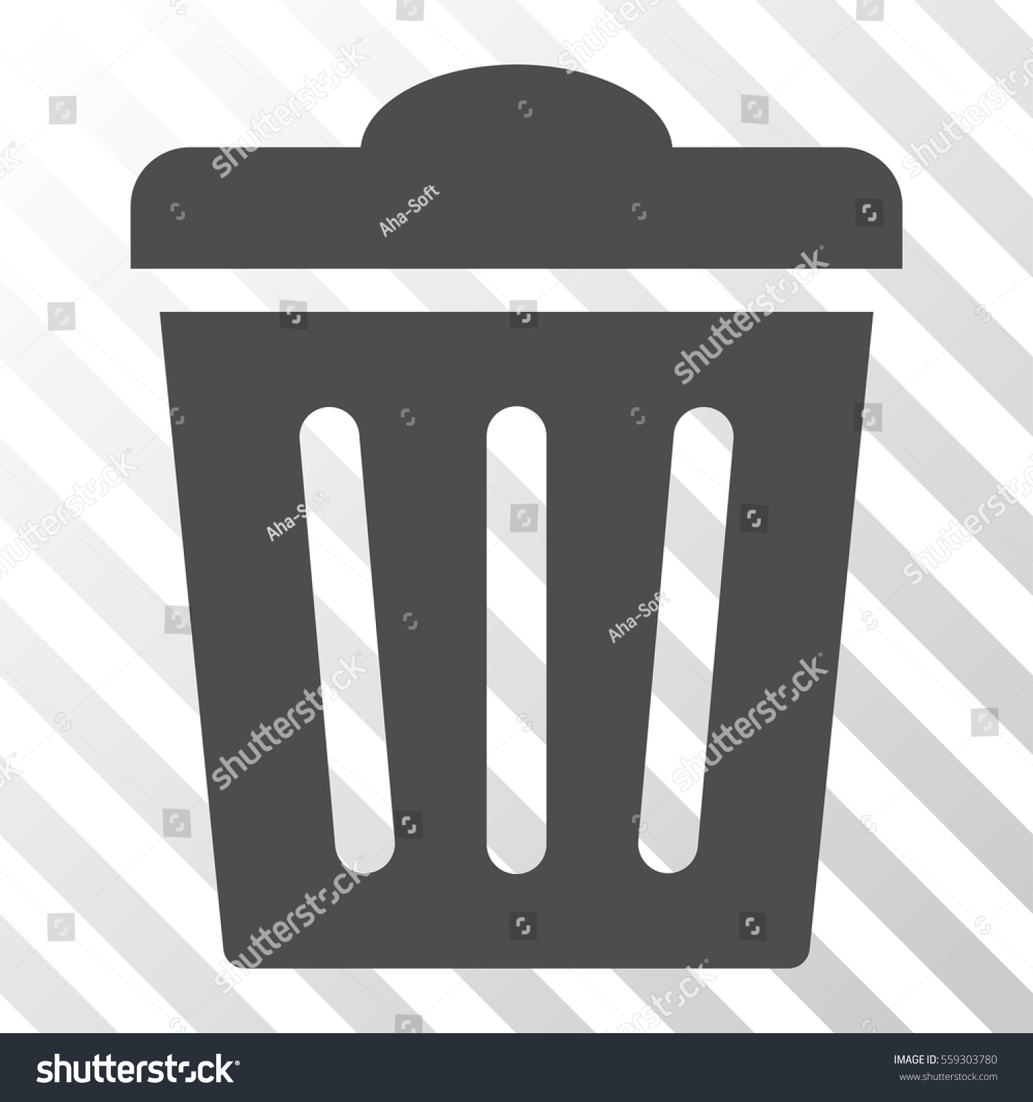 gray trash can interface pictogram vector のベクター画像素材