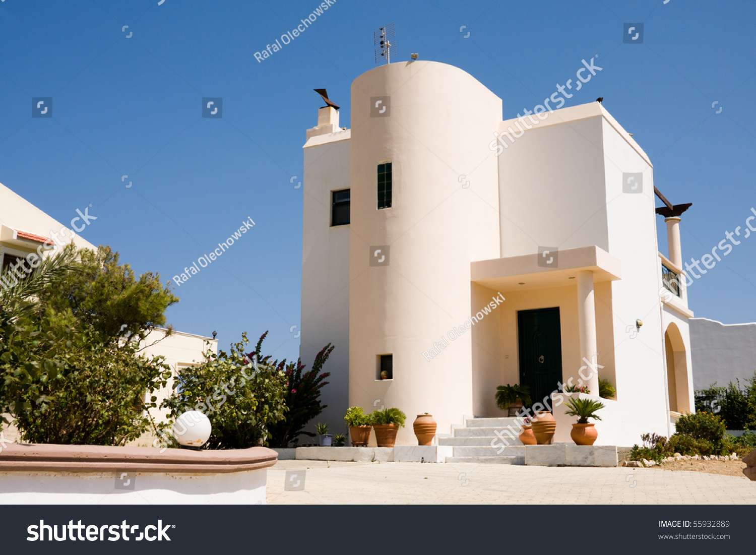 Traditional Greek House small traditional greek house white color stock photo 55932889