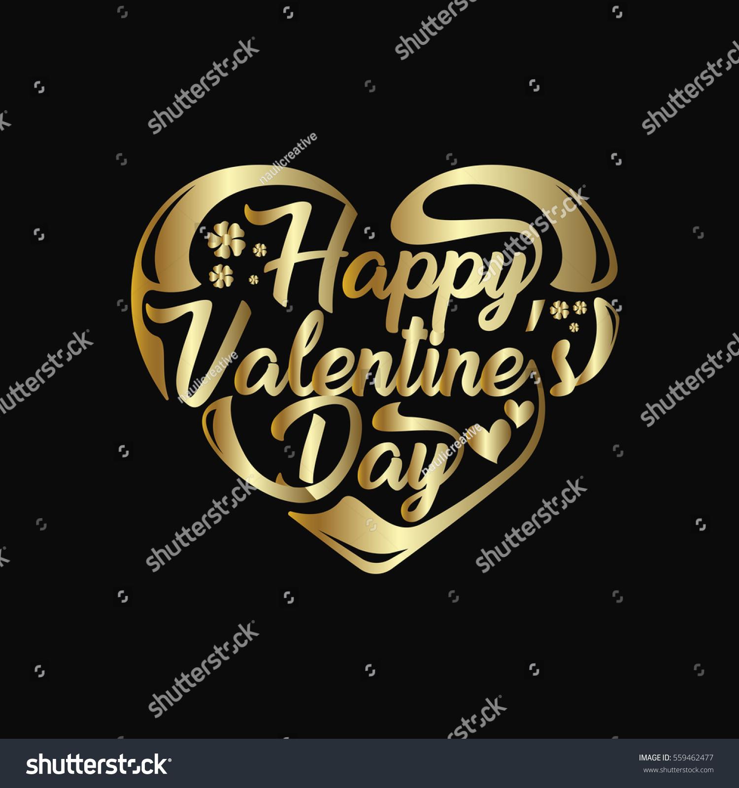 modern romantic happy valentine card suitable stock vector