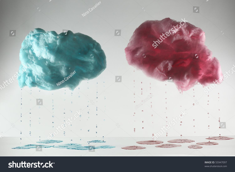 Cotton Candy Cloud Shape Stock Photo 55947097 - Shutterstock