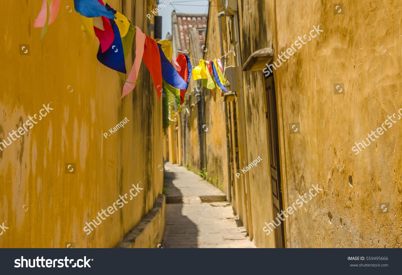 Hoi An Vietnam Yellow Wall Signature Stock Photo (Royalty Free ...