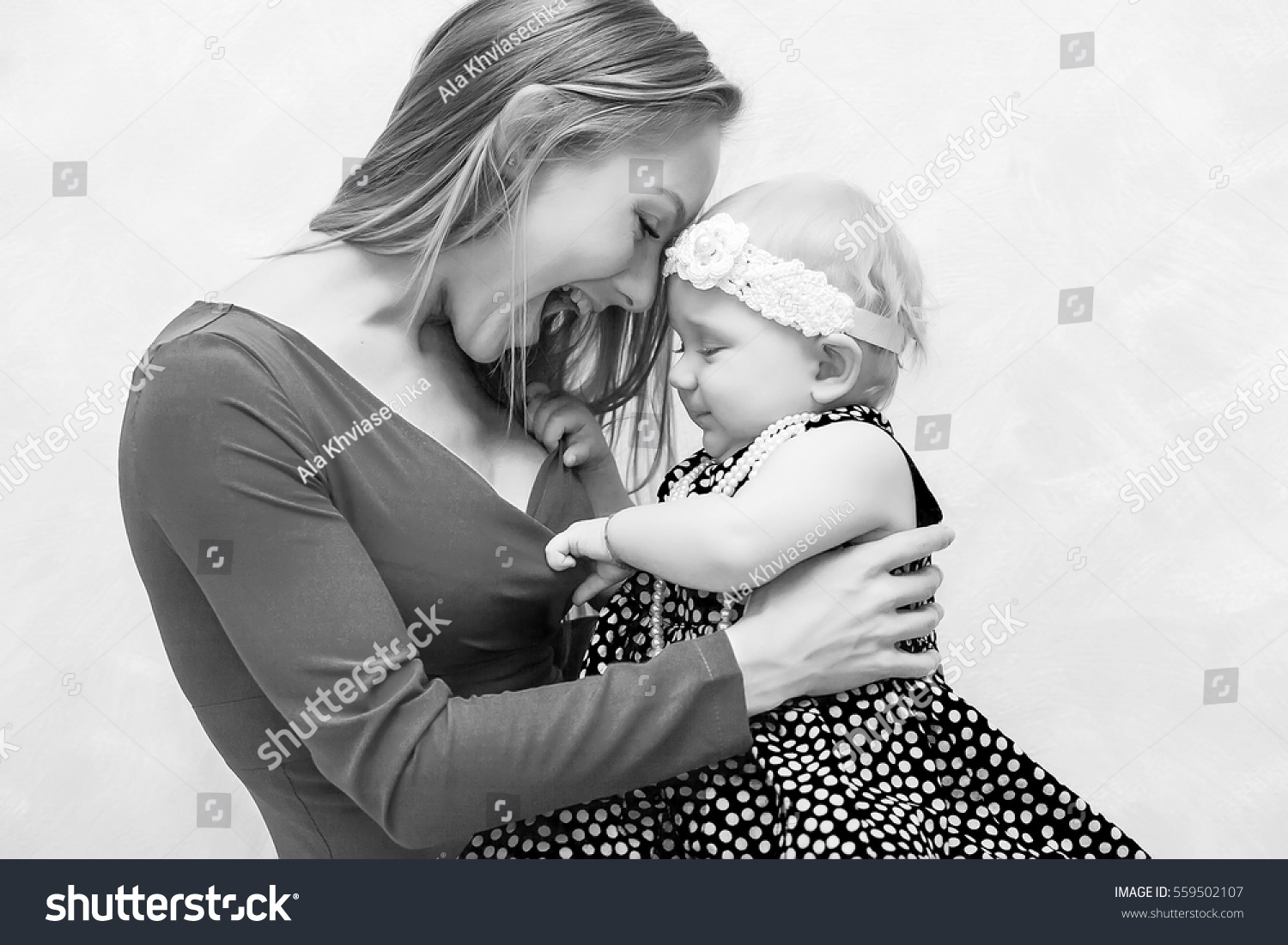 Black White Photo Beautiful Young Blond Stock Photo Edit Now 559502107