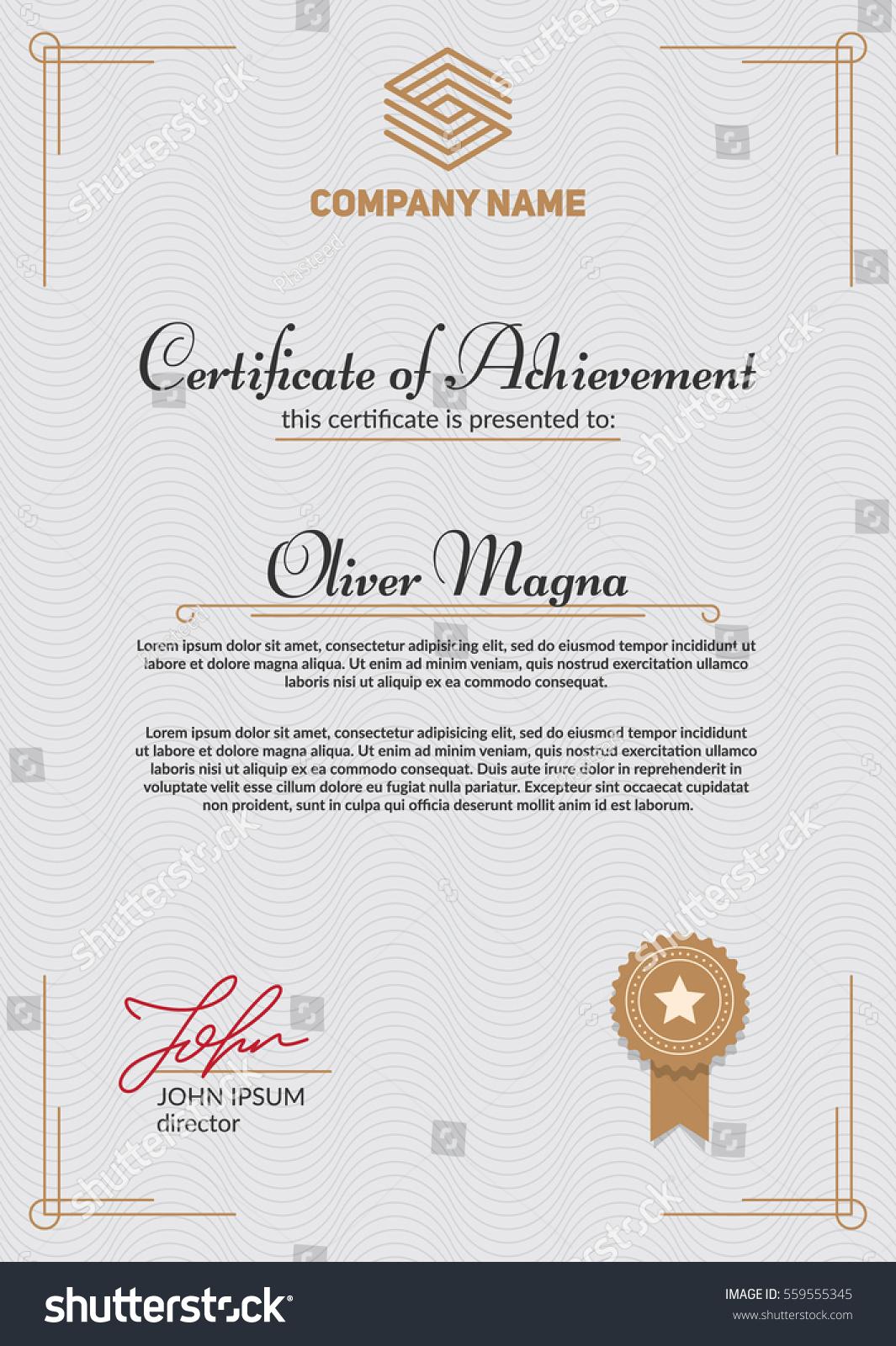 Authentic certificate template cool elegant design stock vector authentic certificate template cool elegant design eps10 vector alramifo Images