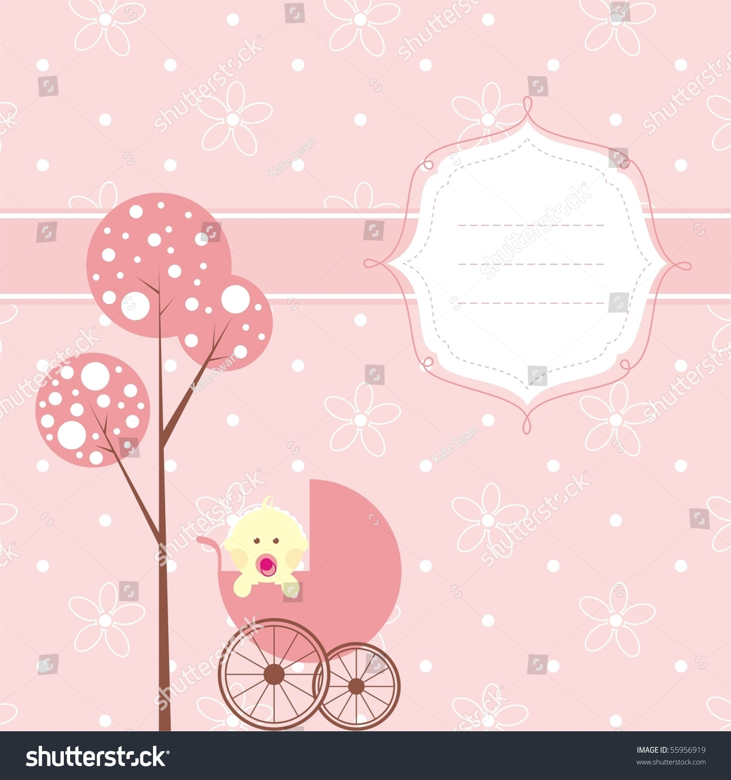 baby girl bannerthe place your text stock vector royalty free