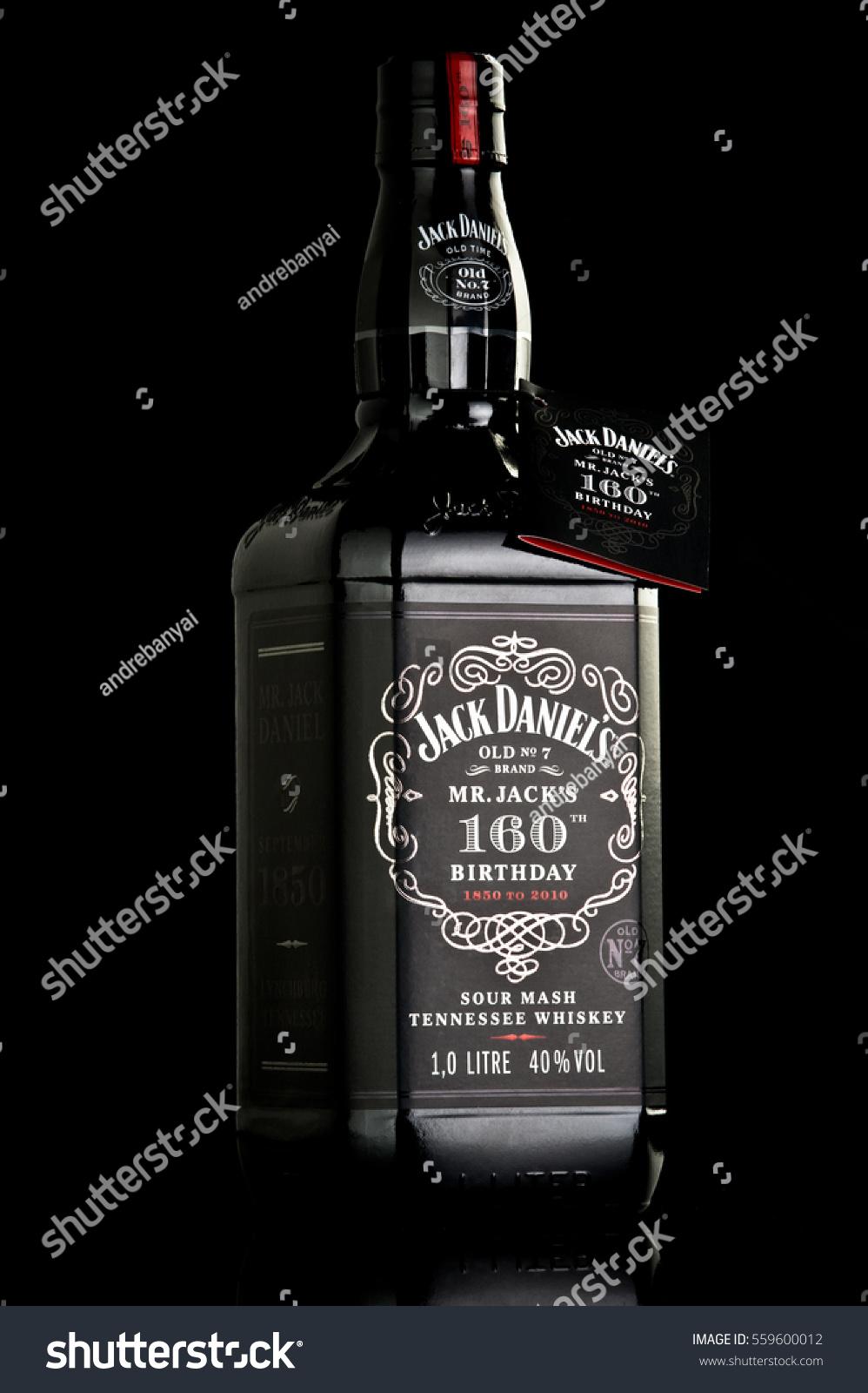 Jack Daniels 160 Birthday Bottle Isolated Stockfoto (Jetzt ...
