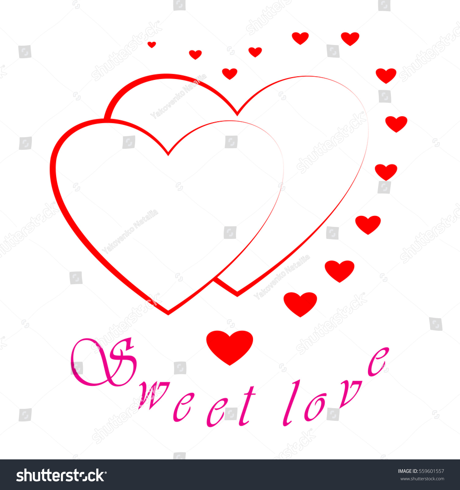 Superb Heart Two Card Red Sign Quote Stock Illustration 559601557   Shutterstock
