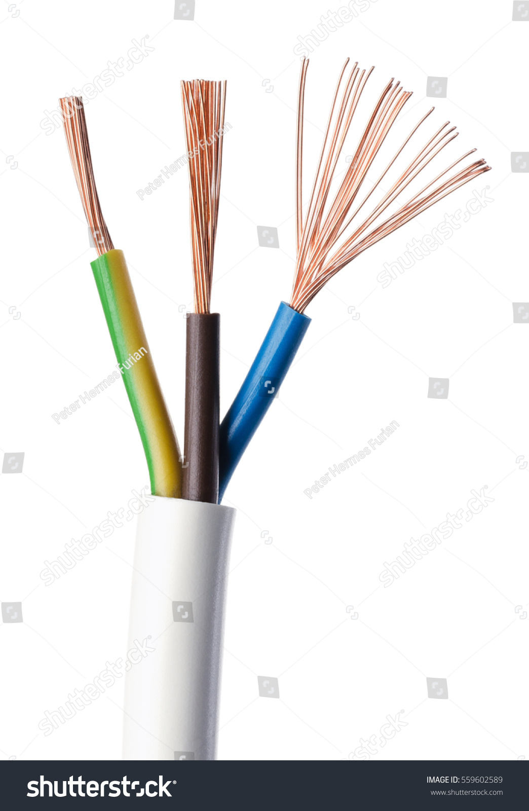 Wire Electric Power : Electrical power cable iec standard on stock photo