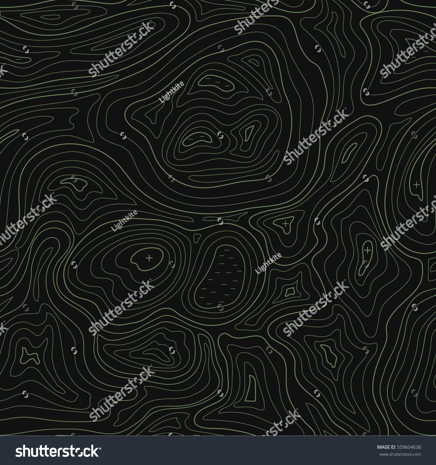 Abstract Earth Relief Map Seamless Pattern Stock Vector