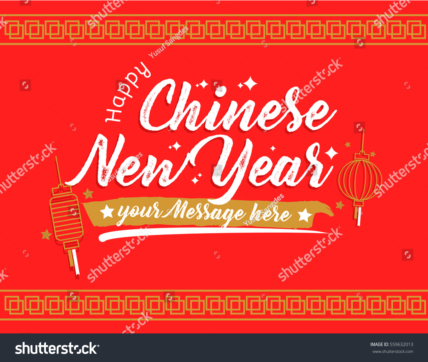 Chinese new year 2017 hand lettering stock vector 559632013 chinese new year 2017 hand lettering calligraphy in red background for greeting card poster and kristyandbryce Gallery